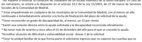 AYUDAS PARA EL FOMENTO DE LA AUTONOMÍA PERSONAL